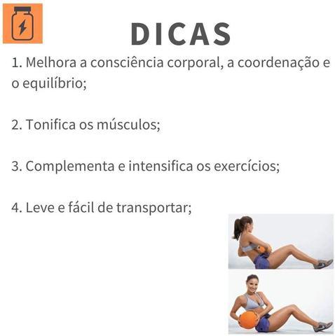 Imagem de Bola Yoga Pilates Alongamento Treinamento Funcional Reabilitação Exercícios 20cm Hidrolight