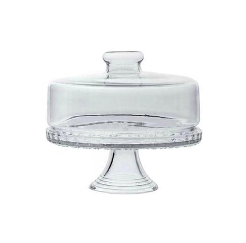 Imagem de Boleira Colonial com Tampa e Pedestal Prato para Bolo de Vidro Transparente
