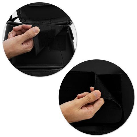 Imagem de Bolsa Alforje Traseiro Moto Custom 32 Litros Universal Sissy Bag Couro Liso Preto