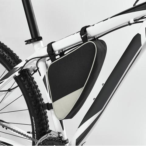 Imagem de Bolsa de Quadro para Bicicleta TopGet Preto e Cinza