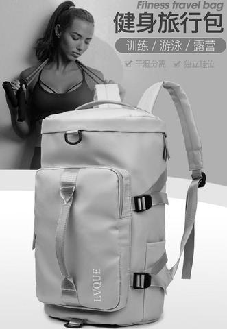 Imagem de Bolsa Feminina Blogueira Mala Esportiva Fitness Academia Vira Mochilha