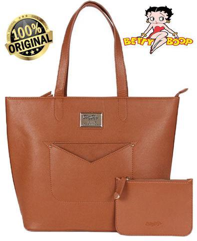 Imagem de Bolsa Feminina Tote Bag Alça Ombro Grande Moda Semax Betty Boop Original BP1704 CR