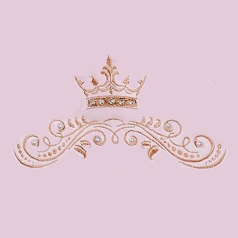 Imagem de Bolsa Maternidade Personalizada Realeza Rosa Com Dourado G