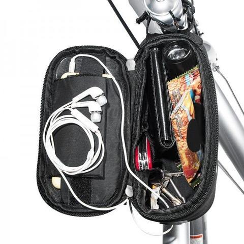 Imagem de Bolsa para bicicleta case porta celular objetos ferramentas suporte de quadro para bike