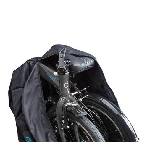 """Imagem de Bolsa para transportar bicicleta dobrável de aro 20"""" ou 16"""" em material flexível e zíper Durban"""
