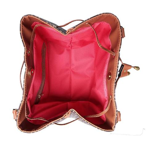 Imagem de Bolsa Saco Estampada Transversal Feminina Casual
