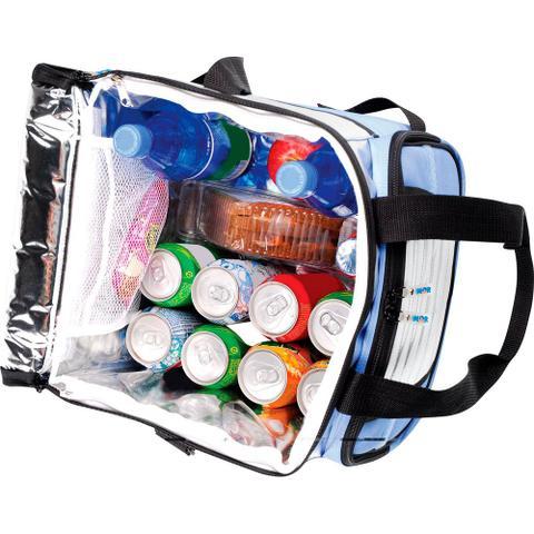 Imagem de Bolsa Térmica 24 Litros até 32 Latas Dobrável Ice Cooler MOR - Azul