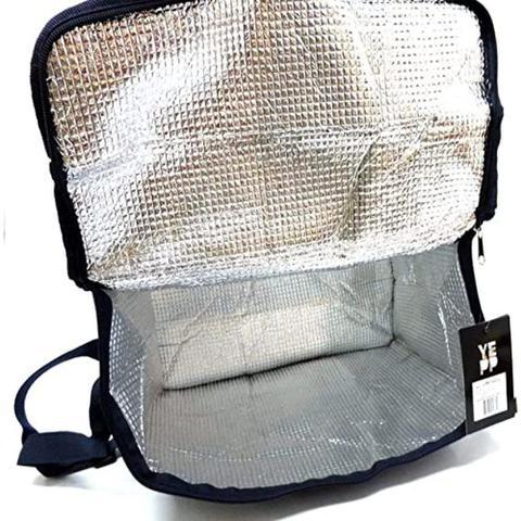 Imagem de Bolsa termica 24 litros grande portatil ice cooler frasqueira dobravel com alca para refeicao churrasco bebidas doces sobremesas