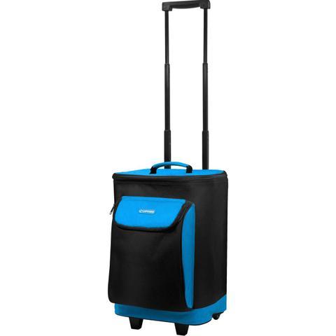 Imagem de Bolsa Térmica Cooler Com Rodinha Carrinho 25 Litros Praia Azul