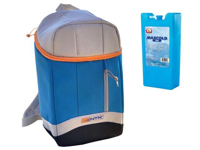 Imagem de Bolsa Térmica Cooler Grande Nautika To Go 20 Litros + Gelo Artificial Maxcold Ice Igloo