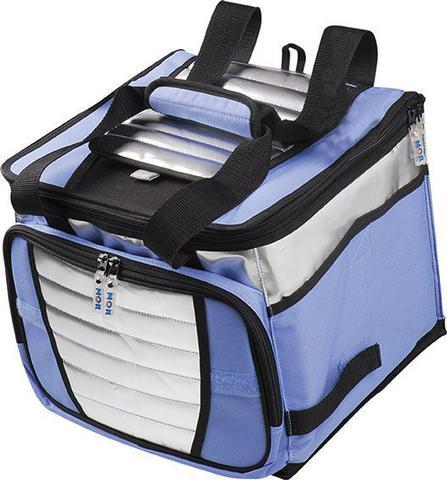 Imagem de Bolsa Térmica Ice Cooler Azul 24 Litros 32 Latas para Praia e Alimentos Mor