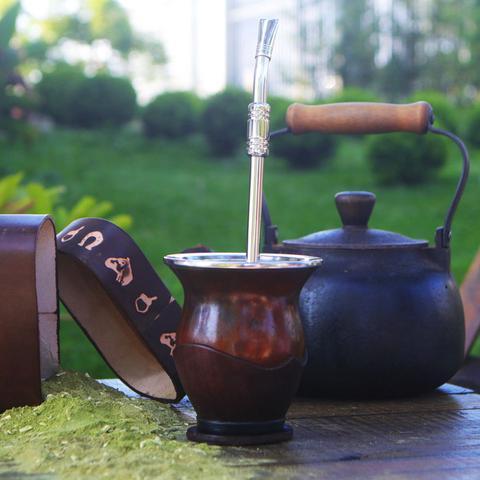 Imagem de Bomba 25cm Para Tererê Chimarrão Aço Inox 304 Bojo Com Rosca