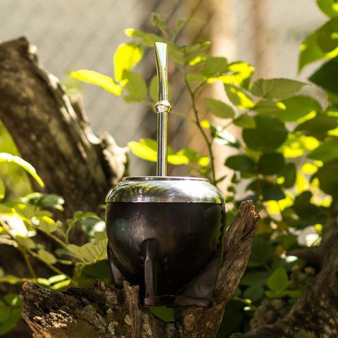 Imagem de Bomba De Chimarrão Cuia Alpaka Bomba Anel Inteira 19cm
