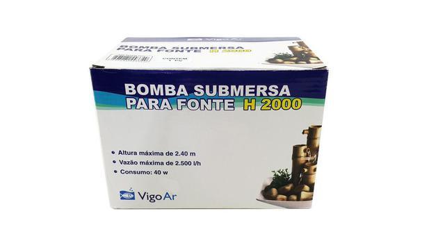 Imagem de Bomba Submersa Para fonte aquática H2000 Vigo Ar 127v