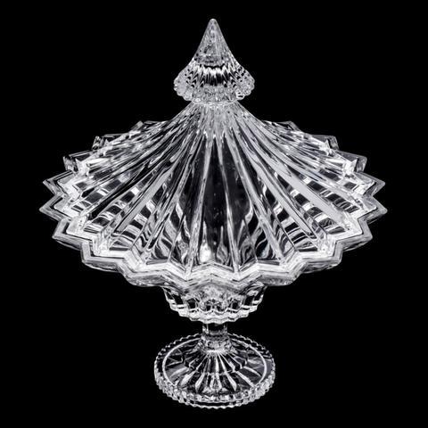 Imagem de Bomboniere, Porta Doces 30cm De Cristal Ecológico Com Tampa E Pé Ballet Bohemia - R5428