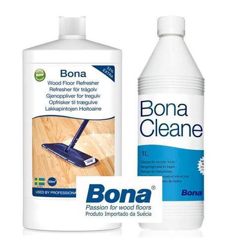 Imagem de Bona - kit renovador brilho wood floor + limpador cleaner concentrado 1lt