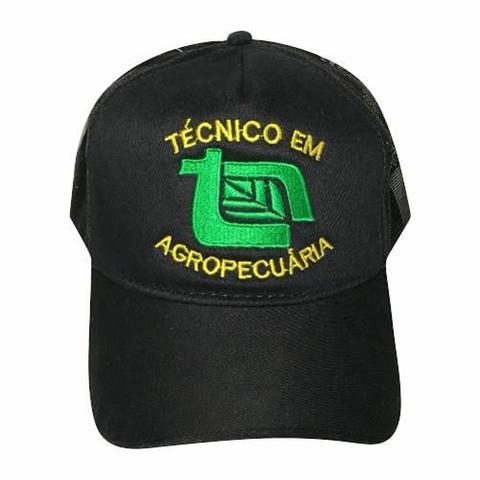 Boné Técnico Em Agropecuária Preto Modelo Trucker - Promoção - Boné ... 5144cb9e08e