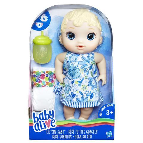 Imagem de Boneca Baby Alive - Hora do Xixi - Loira - E0385 - Hasbro
