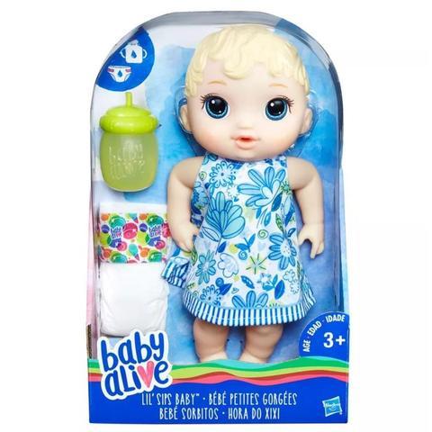 Imagem de Boneca Baby Alive Hora do Xixi Loira Nova - Hasbro E0385