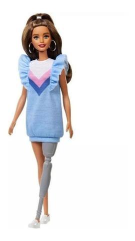 Imagem de Boneca Barbie Fashionista 121 Brunette Prótese De Perna (5610)