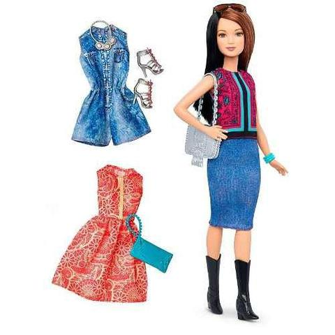 Imagem de Boneca Barbie Fashionista 41 Vestidos Sapatos Cabelo Top