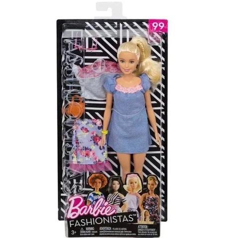 Imagem de Boneca Barbie Fashionista Loira Com Roupinhas e Acessórios Modelo 99 Mattel