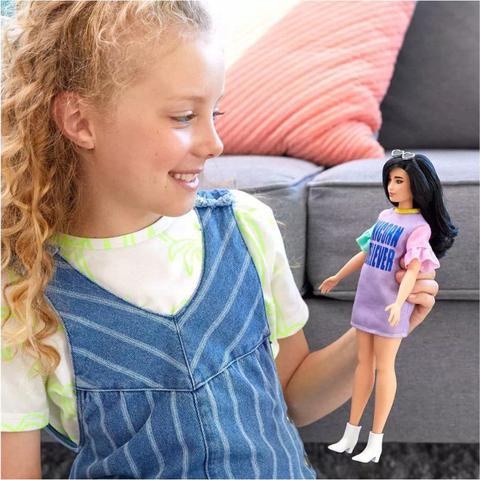 Imagem de Boneca Barbie Fashionistas - 127  Vestido Unicórnio Believer