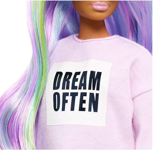 Imagem de Boneca Barbie Fashionistas - 136 Cabelos longos de Arco-Íris