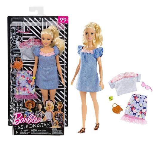 Imagem de Boneca Barbie Fashionistas 99 Roupas E Acessorios Look Fry79