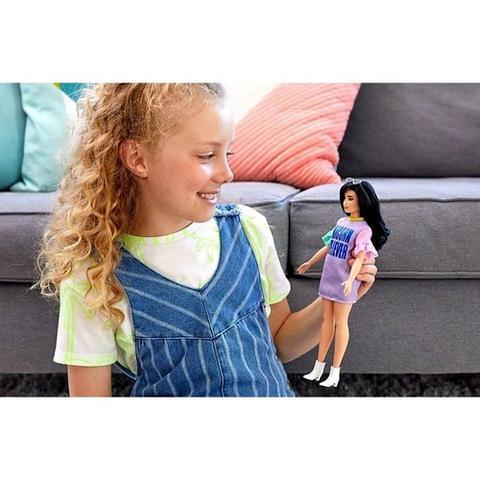 Imagem de Boneca Barbie Fashionistas Morena Oriental Moderna Plus Size - Doll Número 127 - Mattel