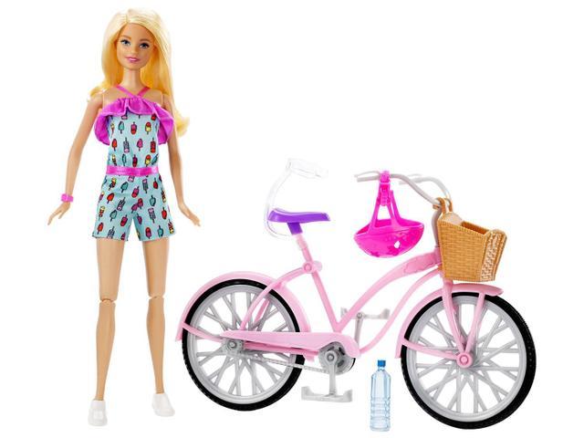 Imagem de Boneca Barbie FTV96 com Bicicleta
