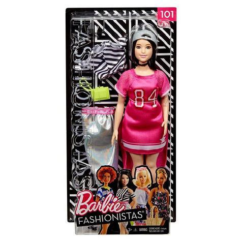 Imagem de Boneca Barbie Morena Oriental Plus Size Curvy Fashionistas Doll Número 101 - Mattel