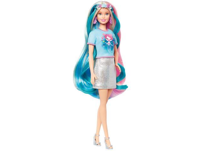 Imagem de Boneca Barbie Penteados de Fantasia Unicórnio e