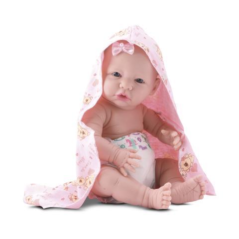 Imagem de Boneca bebe estilo reborn banho de carinho em vinil