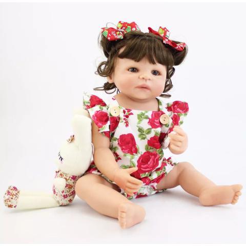 Imagem de Boneca Bebê Reborn Beatriz Corpo Inteiro Silicone Pode Dar Banho