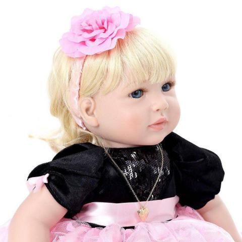 540a8f8341 Boneca Bebe Reborn LBC 06A Menina Silicone Realista - Boneca Reborn ...