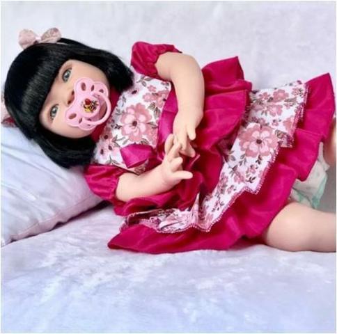 Imagem de Boneca Bebê Tipo Reborn - Kit Acessórios Liquidação Fantástica