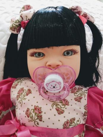 Imagem de Boneca Bebê Tipo Reborn - Kit Acessórios - Sidnyl