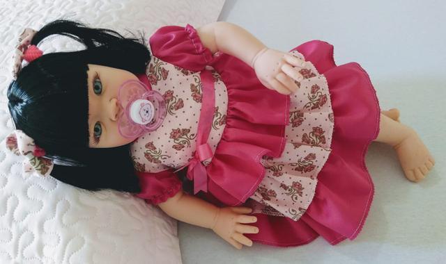 Imagem de Boneca Bebê Tipo Reborn  - Kit Acessórios