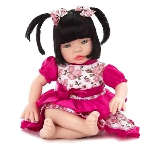 Imagem de Boneca Bebê Tipo Reborn Super Realista - Kit Acessórios