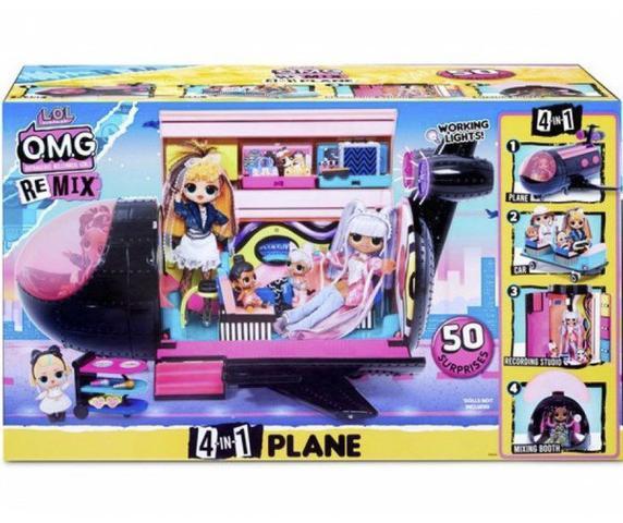 Imagem de Boneca e Playset LOL Surprise OMG Remix 4 in 1 Plane - Candide