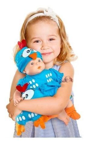 Imagem de Boneca Galinha Pintadinha Mini Baby Com Travesseiro - Roma