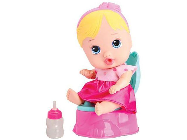 Imagem de Boneca Little Dolls Bercinho Faz Xixi - com Acessórios Divertoys