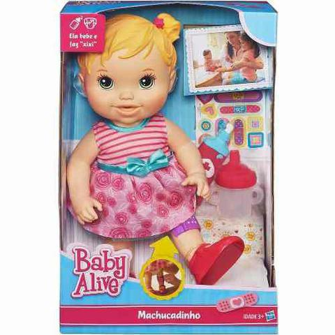 Imagem de Boneca Loira Baby Alive Machucadinho Original Hasbro A5390