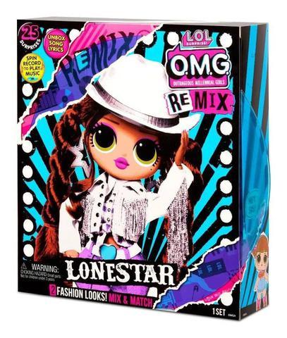 Imagem de Boneca LOL OMG Remix - O.M.G 25 Surpresas C/ Disco  Lonestar  Candide