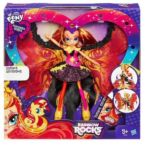 Imagem de Boneca My Little Pony Sunset Shimmer Luxo B1041 - Equestria Girls Time to shine - Hasbro