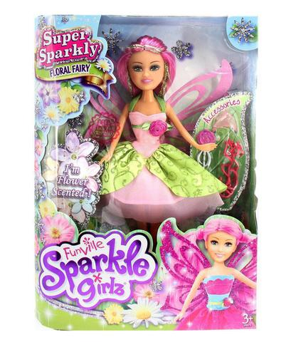 Imagem de Boneca Sparkle Girlz Fada Das Flores Bianca com Acessórios DTC 4804