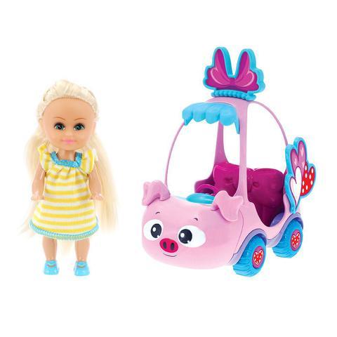 Imagem de Boneca Sparkle Girlz Loira & Carro Mini Sparkles Porquinho - DTC