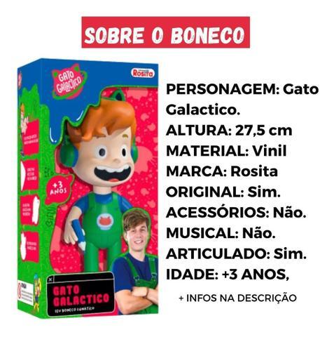 Imagem de Boneco Articulado Em Vinil Gato Galactico Rosita Brinquedos 1090