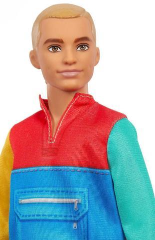 Imagem de Boneco Barbie Ken Fashionista 163 Moleton Colorido - Mattel